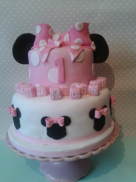 baby pink minnie mouse cake flickr photo sharing