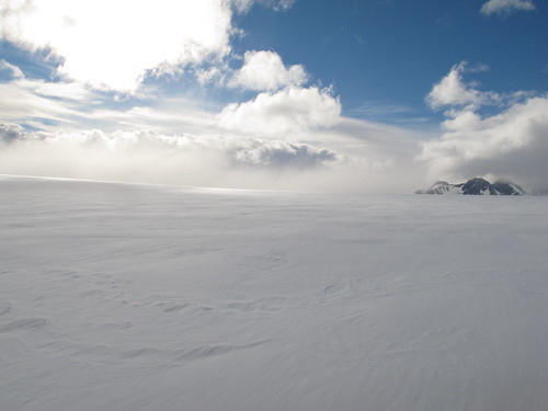 Nubes en la nieve