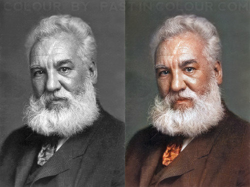 Alexander Graham Bell Colourized