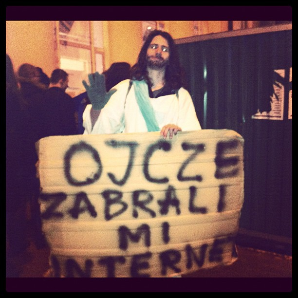 """Jesus: """"father, they took my internets!"""" super!"""