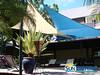 Voiles d'ombrage superposées en terrasse