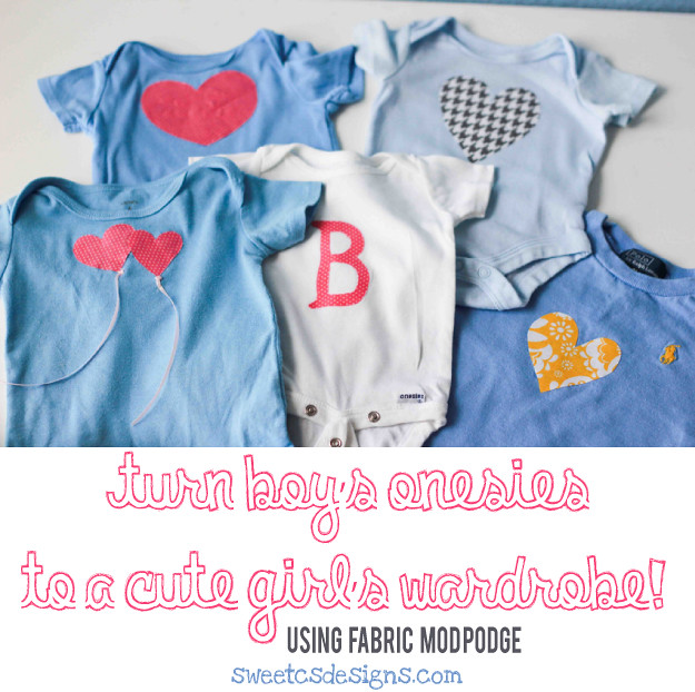 Turn boys blue's into a girls wardrobe with NO SEW appliques! Genius for families expecting a baby girl... and it holds up to washing and wear. I am SO doing this!