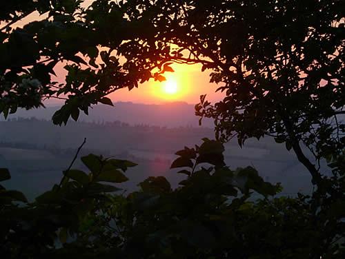Tramonto dalle colline di Oriolo