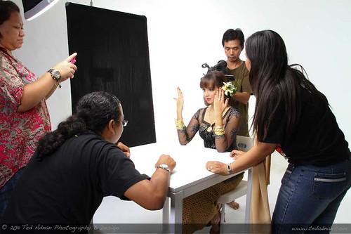 The Adnan Shoots Emas Sri Pinang campaign at Thebarebone Studio Kajang, Selangor