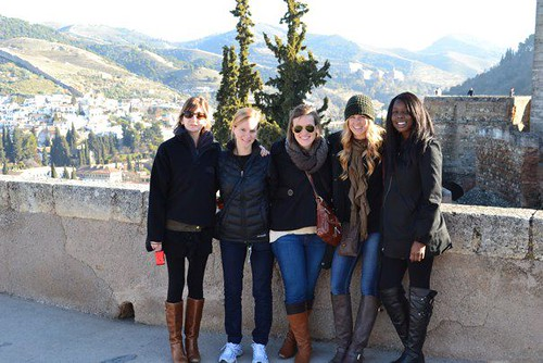 J-Term students exploring the European landscape