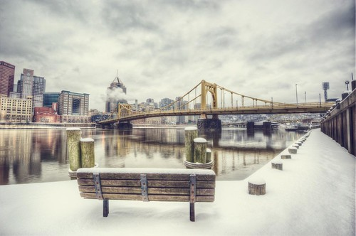 Vintage Pittsburgh from the North Shore HDR
