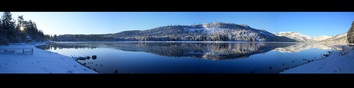 california lake snow panoramic sierra