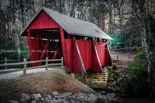 Campbell's Covered Bridge-3734 by Against The Wind Images