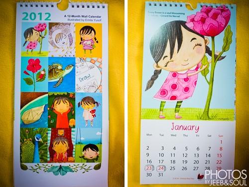 2012 illustrated calendar by Emila Yusof