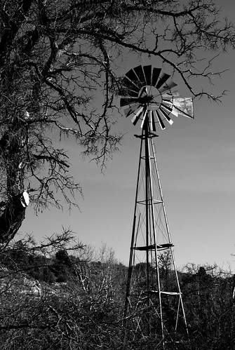 A windmill near Doll Baby Farm in Payson, Arizona.