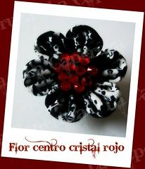 marcaFlor centro cristal rojo