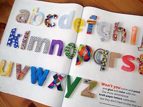 Libbie Grove Design Ideas For Kraft Letters