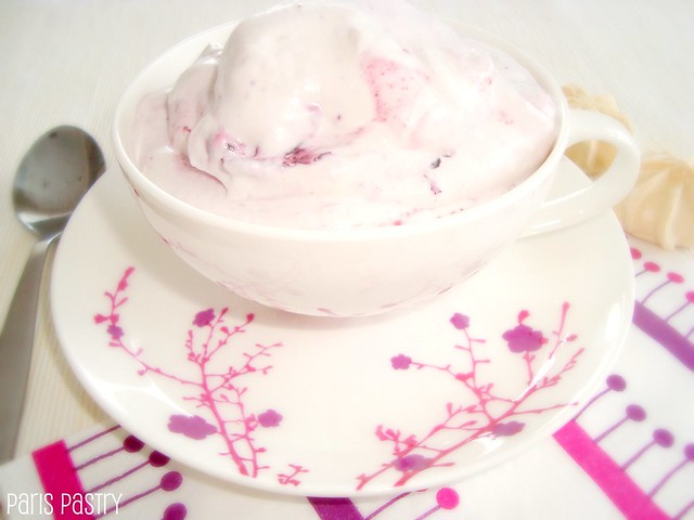 Blackberry Meringue Cream Pots