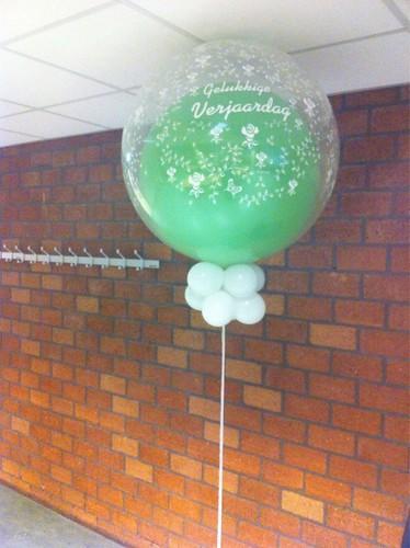 Cloudbuster Rond Limegroen Gelukkige Verjaardag