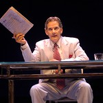 Campbell Scott plays ethics-challenged journalist Augustine Early in the Huntington Theatre Company's world premiere production of The Atheist by Ronan Noone, part of the 2007-2008 season. Photo: Eric Antoniou.