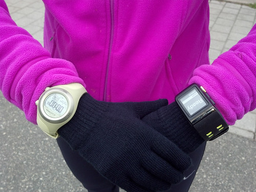 Taking the Nike+ and Garmin 405cx out for a Run