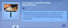 The Dazzler's Dazzilling Magic Shop Billboard