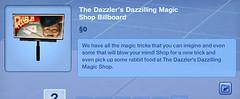 The Dazzler's Dazzilling Magic Shop Billboard