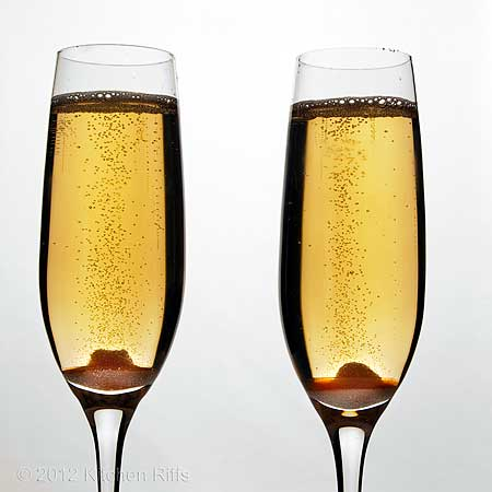 Champagne Cocktails in 2 glasses