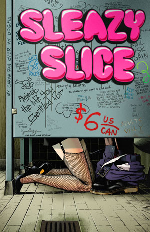 Sleazy Slice #5 cover by Jim Rugg