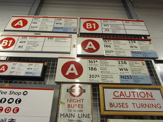 UK - London - Acton - London Transport Museum - Bus destination signage
