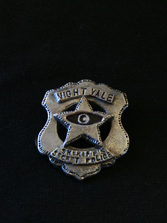silvery shield with raised star