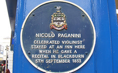Photo of Niccolò Paganini blue plaque