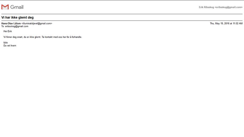 eksempel på e-poster jeg får