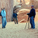 David, Tim and Bill; Sand Dune Arch, Arches National Park by JudyJack1960