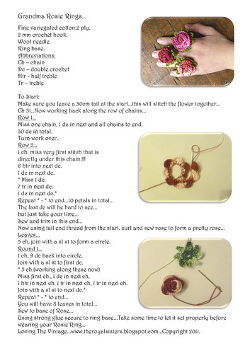 Grandma Rosie Ring Tutorial...