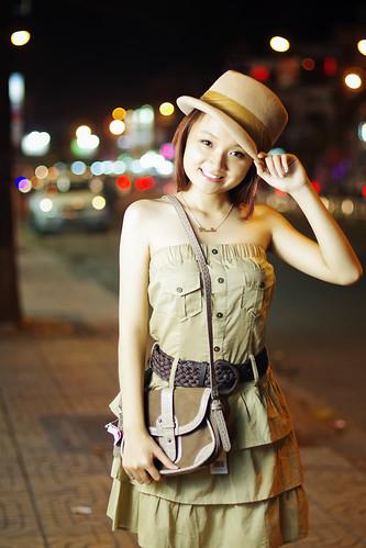 無料写真素材, 人物, 女性  アジア, 帽子, ワンピース・ドレス, ベトナム人