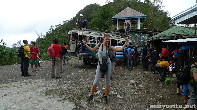 The jeepney ride saved one hour trekking time. Alex is happy!