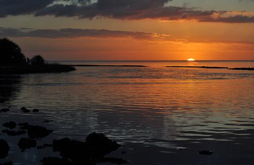 sunset water clouds gulf