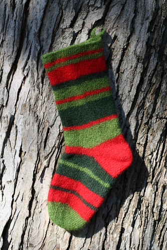 isaac stocking - post felting
