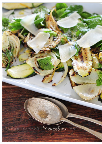 burnt fennel & zucchini salad