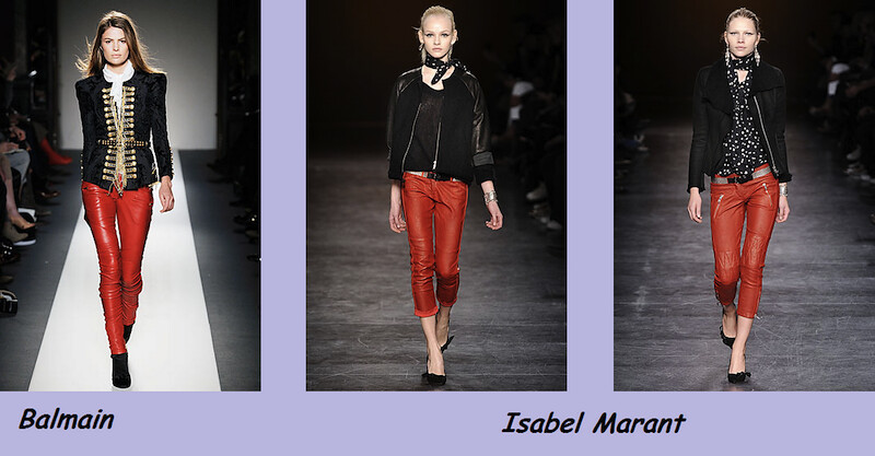 red leather pants balmain marant fw2011