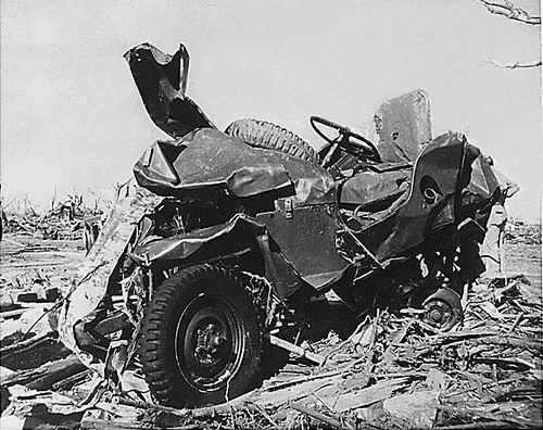 Jeep Hit by Tornado by lee.ekstrom