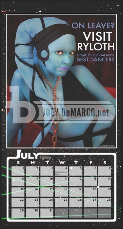 Calendário 2012 - Star Wars Sexy - Eu Quero!