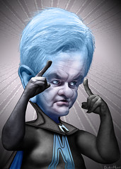 Newt Gingrich - megaNewt Caricature