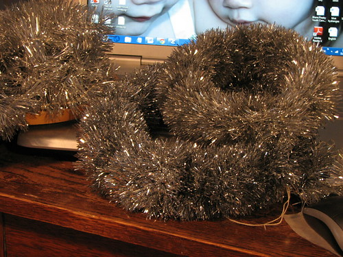 tinsel rope wreaths