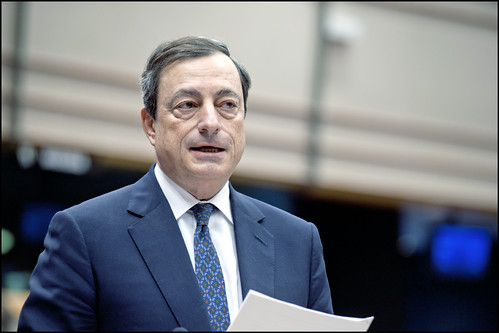 ECB President Mario Draghi at the EP