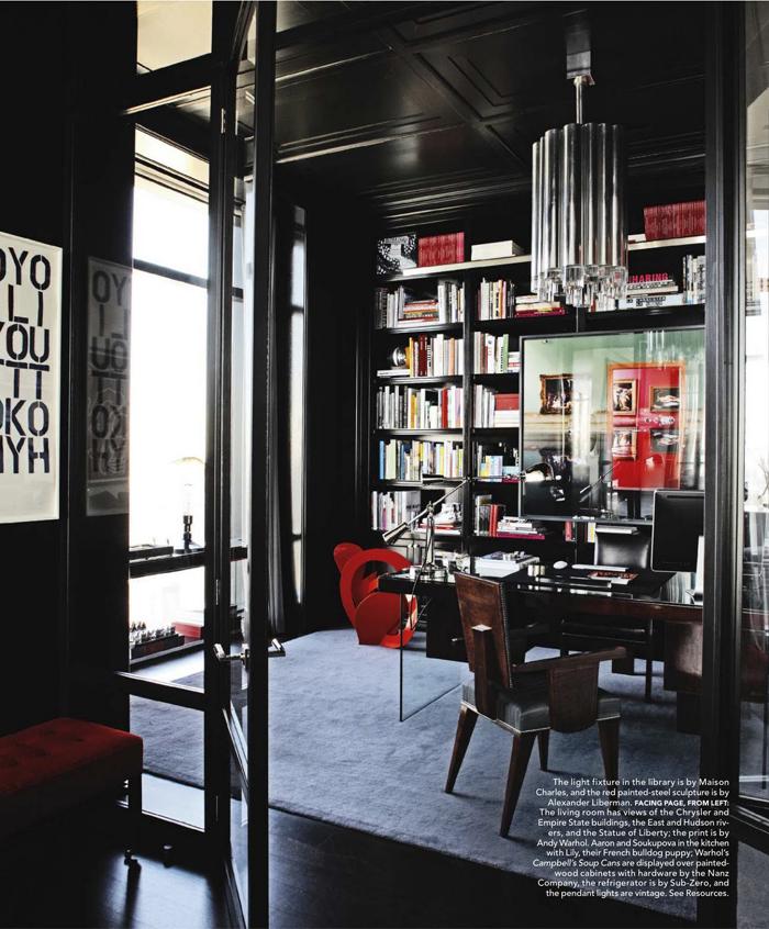 50 Dramatic Masculine Home Office Designs: Inside Hana Soukupova's Manhattan Apartment