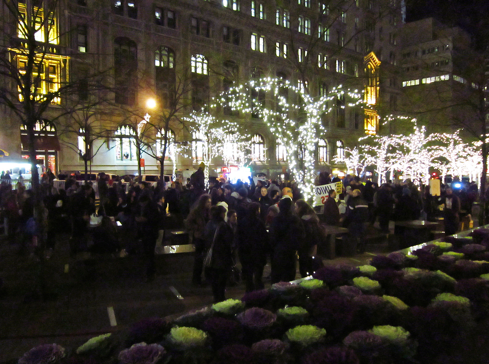 Zuccotti Park is still very much alive
