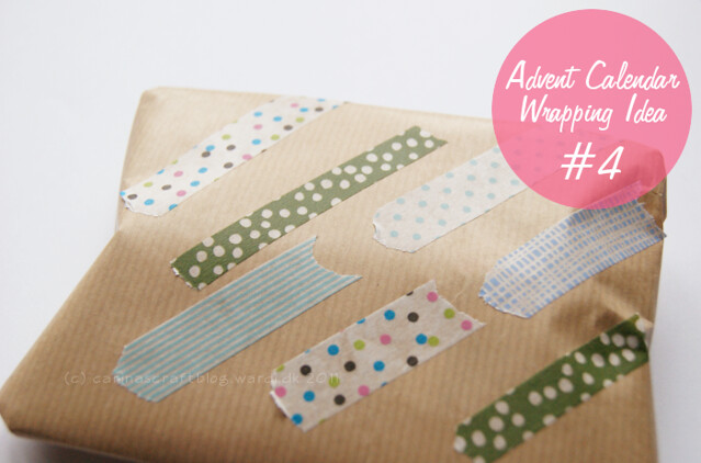 Wrapping idea: kraft paper + masking tape