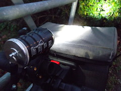 Hope Vision 1 LED with Altura Orkney bar bag and KlickFix Multiclip