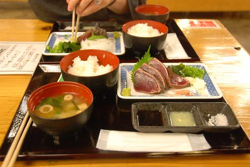 Bonito tataki at Hirome Market