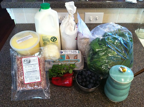 dark days meal #1: ingredients