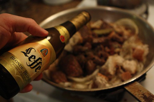 Carbonade Flamande with Leffe