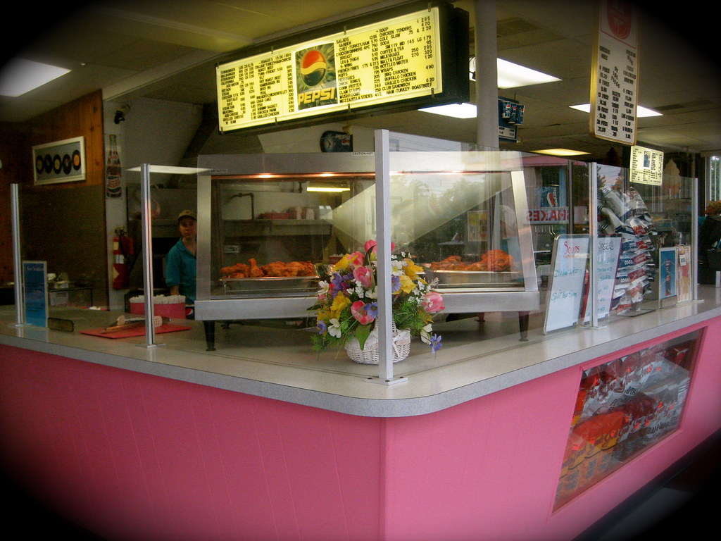 Interior Counter and Broasted Chicken