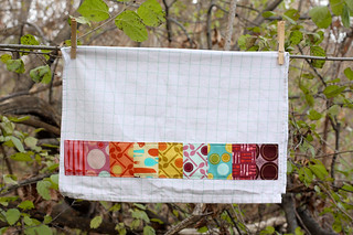 Fabric Embellished Dish Towel Tutorial